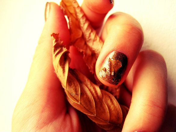 Autumn Leaves Nail Tutorial