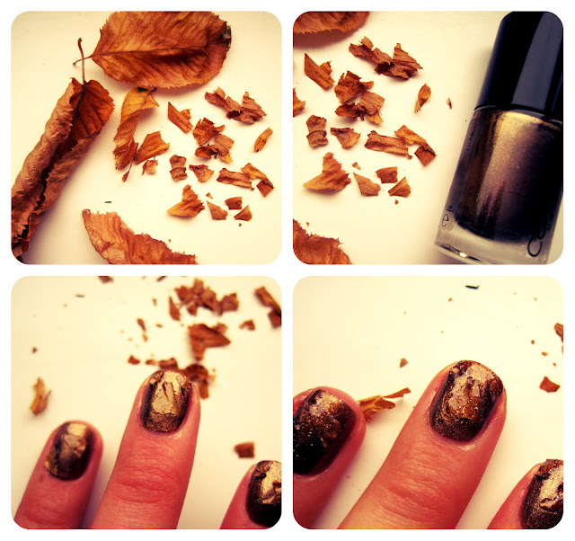 Autumn Leaves Nail Tutorial 2