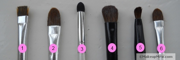 A selection of various make up brushes