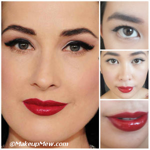 Try your own version of Dita Von Teese's makeup look too!