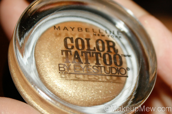 Maybelline Color Tattoo Eyeshadow in Bold Gold