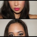 The Bold Pink and Smokey Eye Look