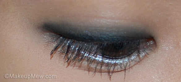 Swatch on Eye of MAC Eye Kohl in Smolder