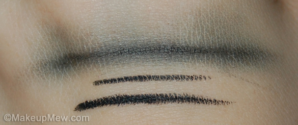 Swatch on Hand of MAC Eye Kohl in Smolder