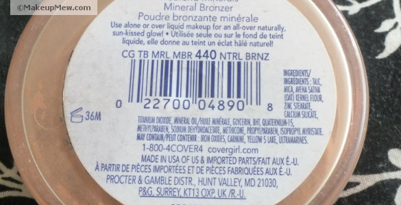 Real mineral cosmetics usually have short ingredients lists.