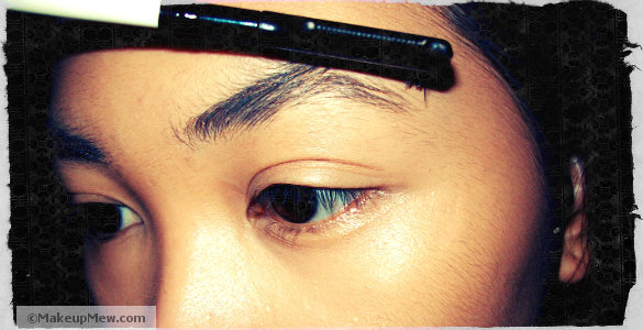 Your brows need to look raised, like in the picture.