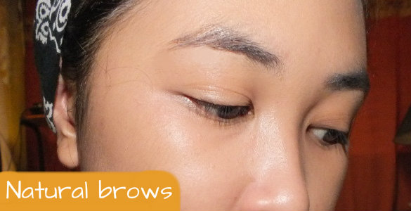 My brow's natural color