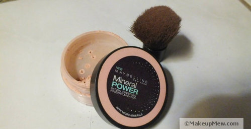 Set everything with powder