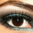 How to create a teal blue smokey eye look