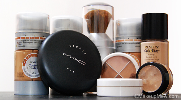 The different types of makeup foundations for Different foundations