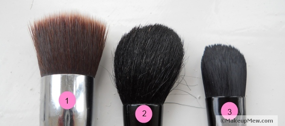 A collection of common make up brushes