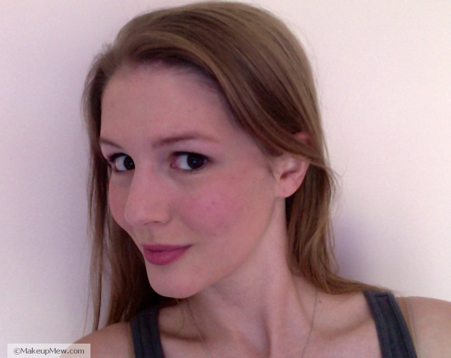 picture of clinique blushwear cream stick 05 shy blush on cheek