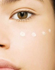 pic of concealer dots on female face