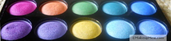 Image of bright eyeshadow shades