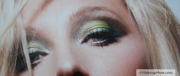 Image of a green eyeshadow look (Marie Claire UK)
