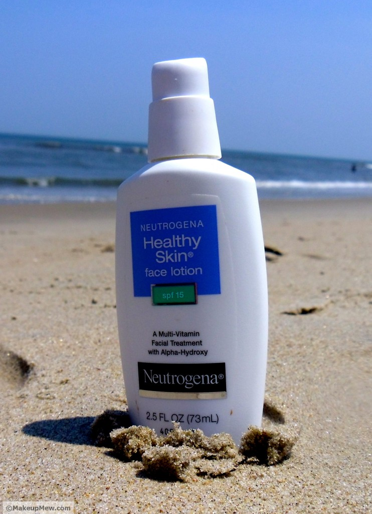 Image of the Bottle of Neutrogena Healthy Skin Face Lotion